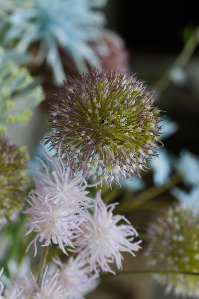 zimowe kwiaty sztuczne